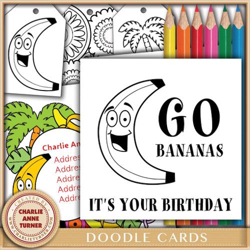 Doodle Banana Birthday