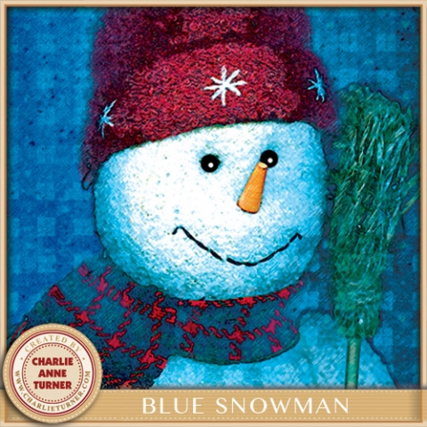 Blue Snowman Christmas