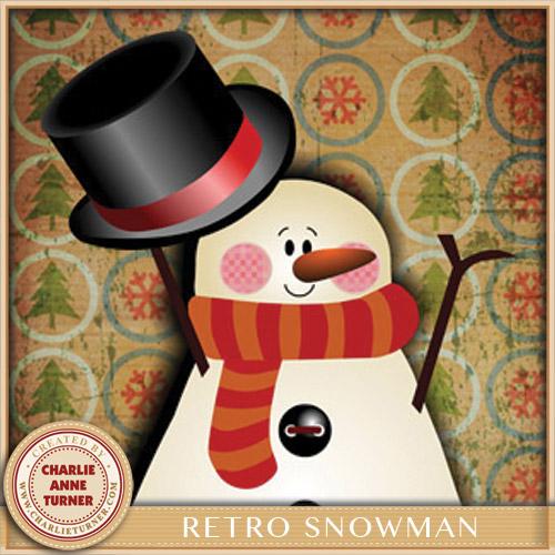 Retro Snowman Christmas