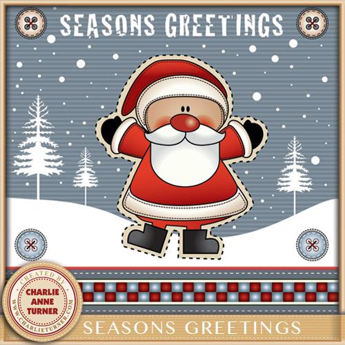 Seasons Greetings Santa