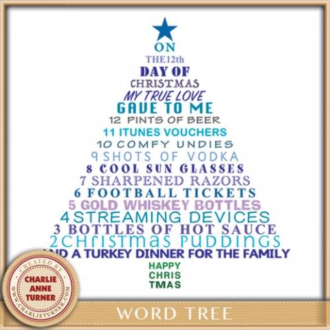 Blue Word Tree