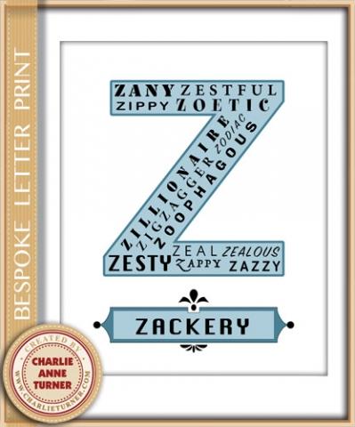 Bespoke Z letter