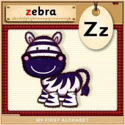 My First Alphabet - Z is for Zebra