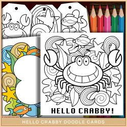 Hello Crabby Doodle Card