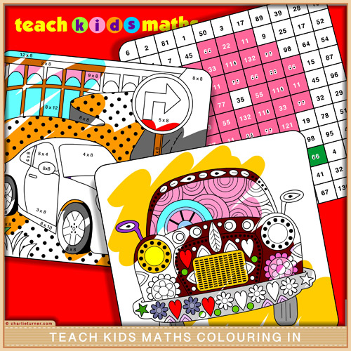 Teach Kids Maths Colouring In