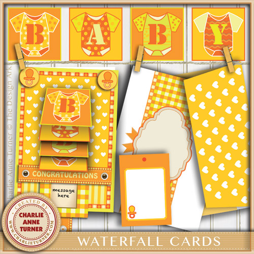 New Baby Waterfall Card