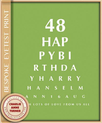 Bespoke Eye Test Print