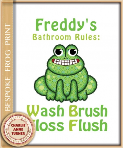 Bespoke Brush Floss Print