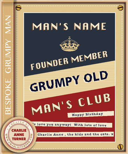Bespoke Grumpy Old Man Print