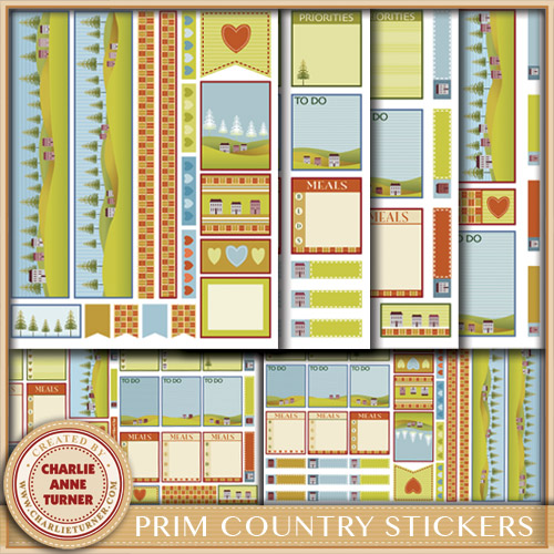 Prim Country Stickers