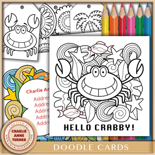 Doodle Crabby Card