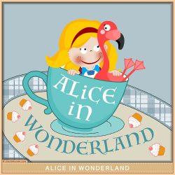 Alice & the Croquet Flamingo