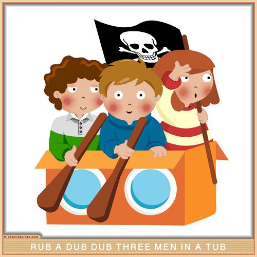 Rub a dub dub three men in a tub