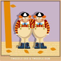 Tweedle Dee & Dum from Alice in Wonderland