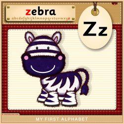 My First Alphabet - Z is for Zebra