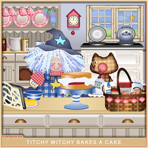 Titchy Witchy Bakes a Cake