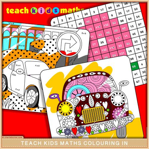 Teach Kids Maths Colouring In