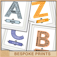 A-Z bespoke prints